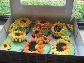 Sunflowers in a box