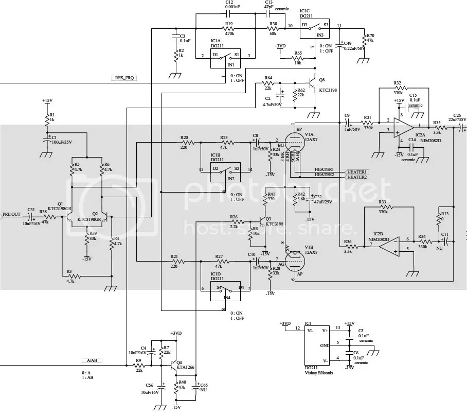 AD30VT Schematic Around 12AX7 Tube Photo by Phrygian