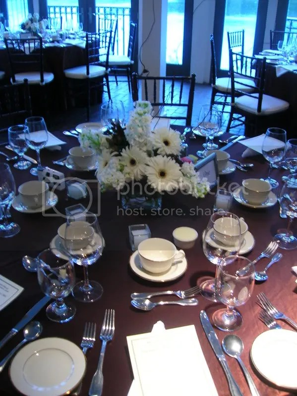 As you can see, the colors of the wedding were complimented by the colors of the room
