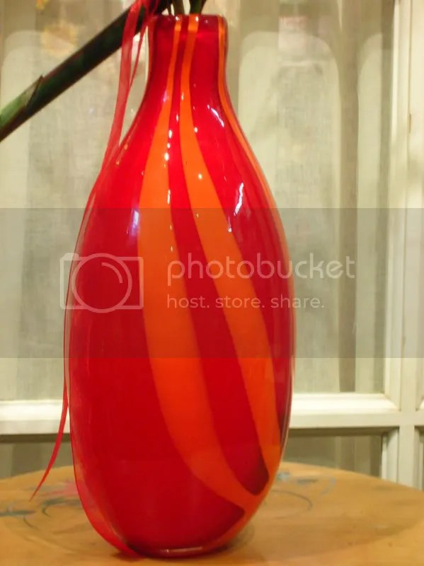 One-of-a-kind glass vase