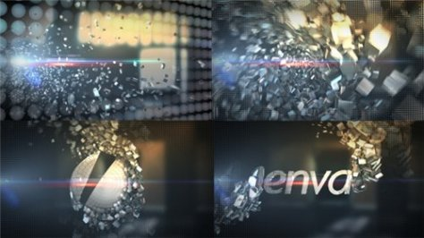 Metallic Crystal Logo Text Reveal - After Effects Project (Videohive)