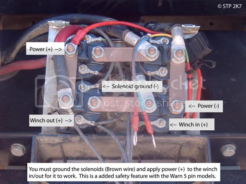 warn winch wiring diagram 4 solenoid for starter relay in cab switch - australian 4wd action | forum