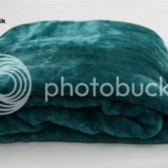 Arm Chair Covers Ebay Pottery Barn Club Teal Single Bed - Sofa Acrylic Mink Blanket Fur Throw |