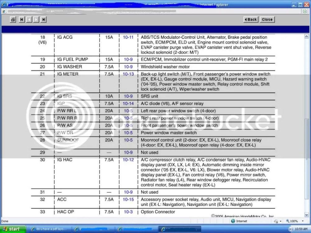 medium resolution of 2010 honda accord v6 fuse box