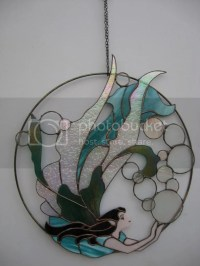 Stained Glass Fairy On A Brass Ring Pictures, Images ...