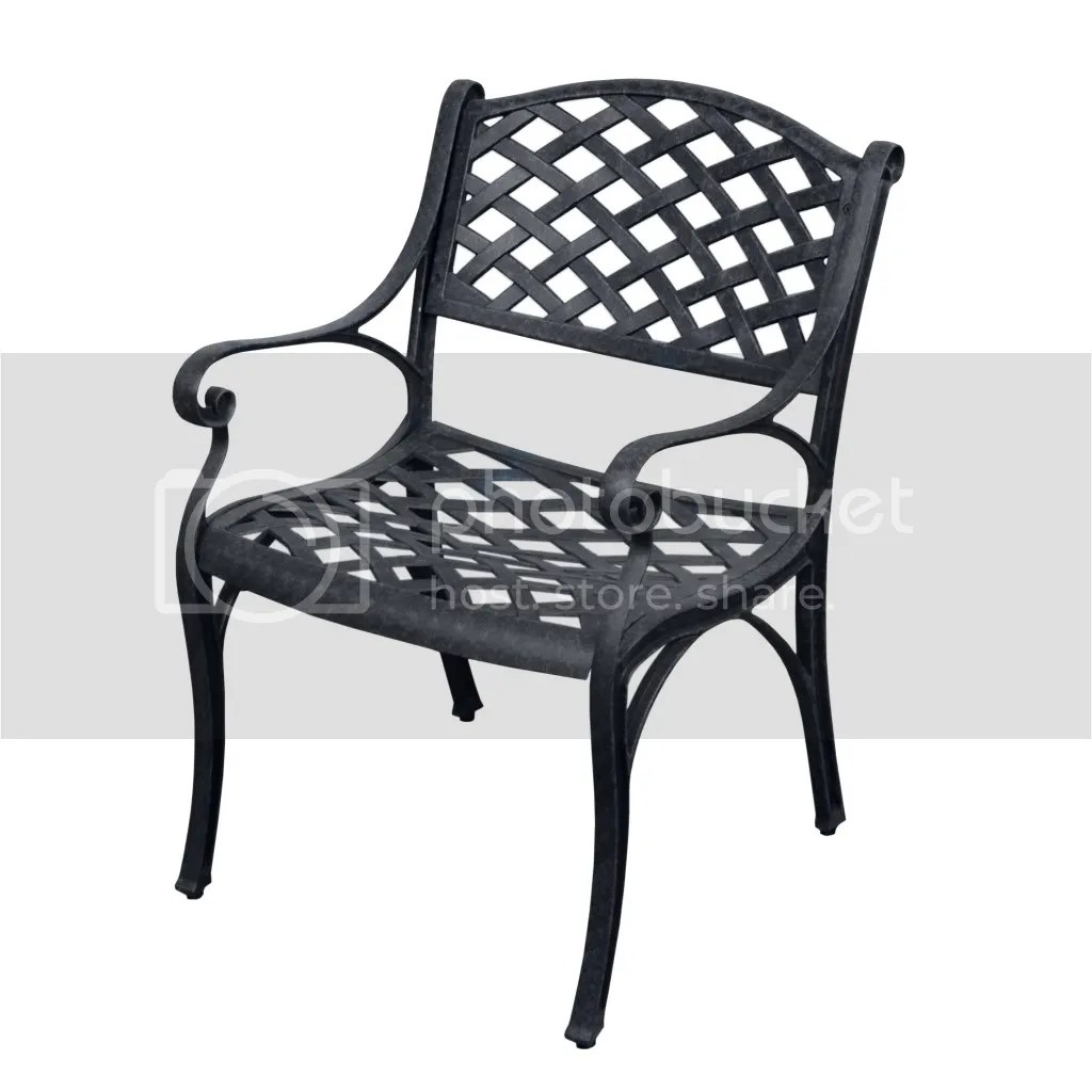 Aluminum Lawn Chairs Two Antiqued Black Cast Aluminum Outdoor Patio Furniture