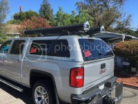 ARE Roof Rack Mounted Rod Pod Tubes (2) - Roof Rack Rod ...