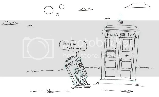 Josh's Another day of Paradise: R2D2 meet DW's Police Box