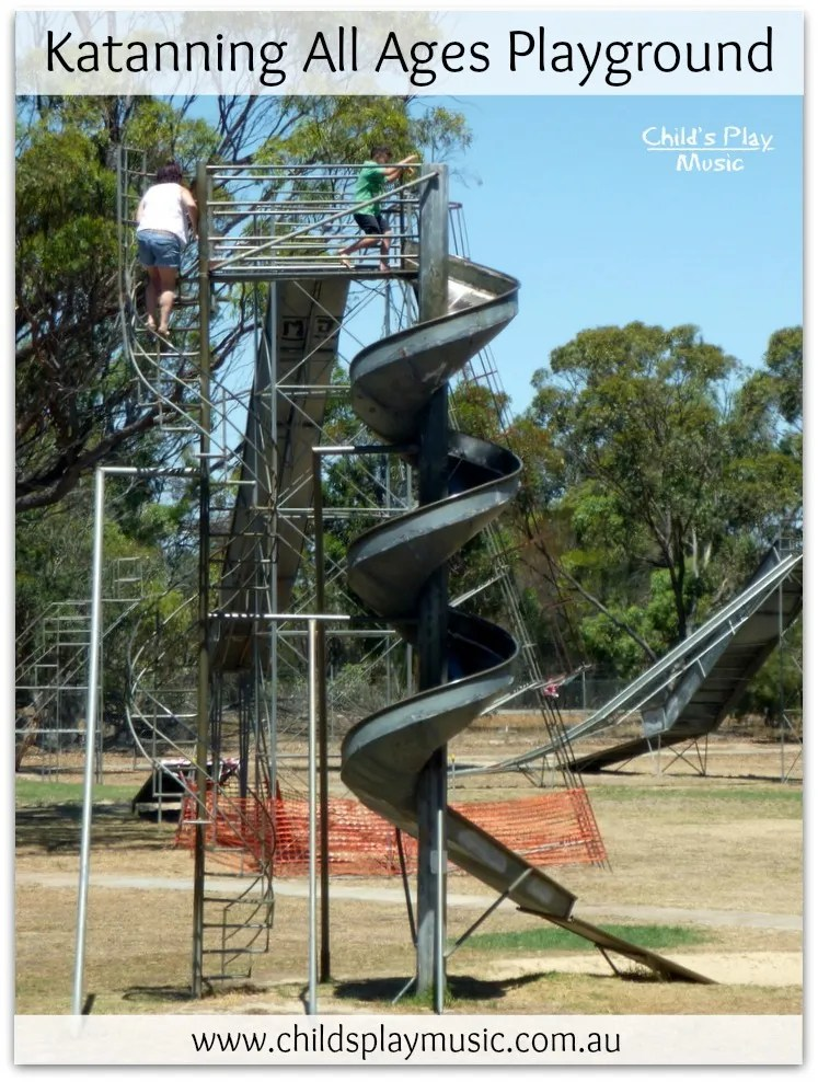 Spiral slide at Katanning All Ages Playground