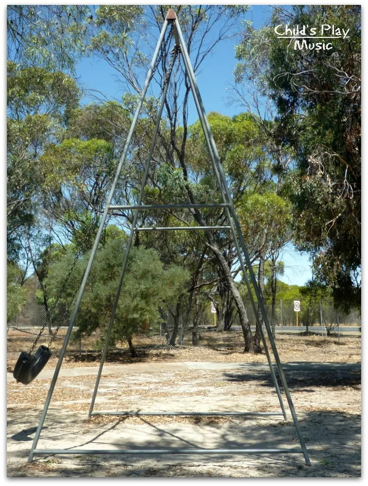 Side view of the big swing at Katanning All Ages Playground