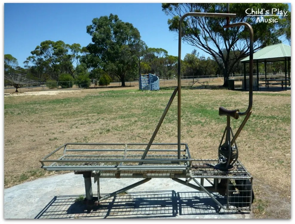 weird pedalled rotating ride-on at Katanning All Ages Playground