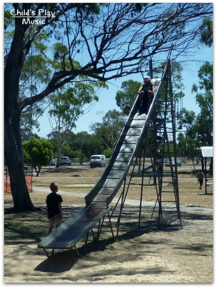 Stepped ripple slide at Katanning All Ages Playground