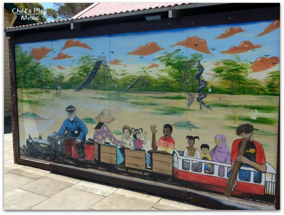 Mural at Katanning All Ages Playground