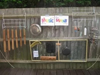 Image of a music wall for children