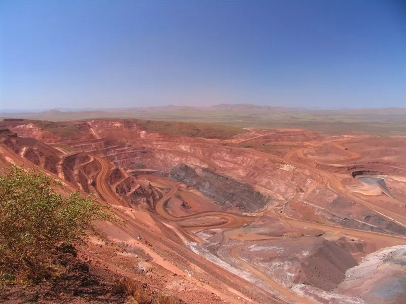 The Tom Price open-cut iron ore mine