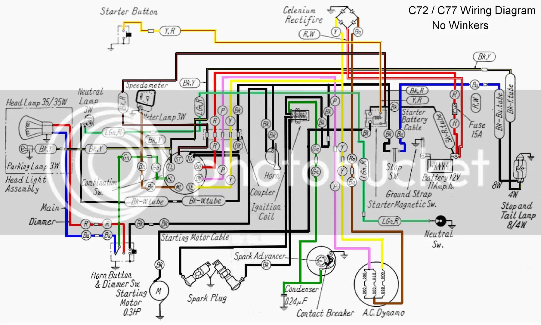 Wiring Diagram Honda Cl70