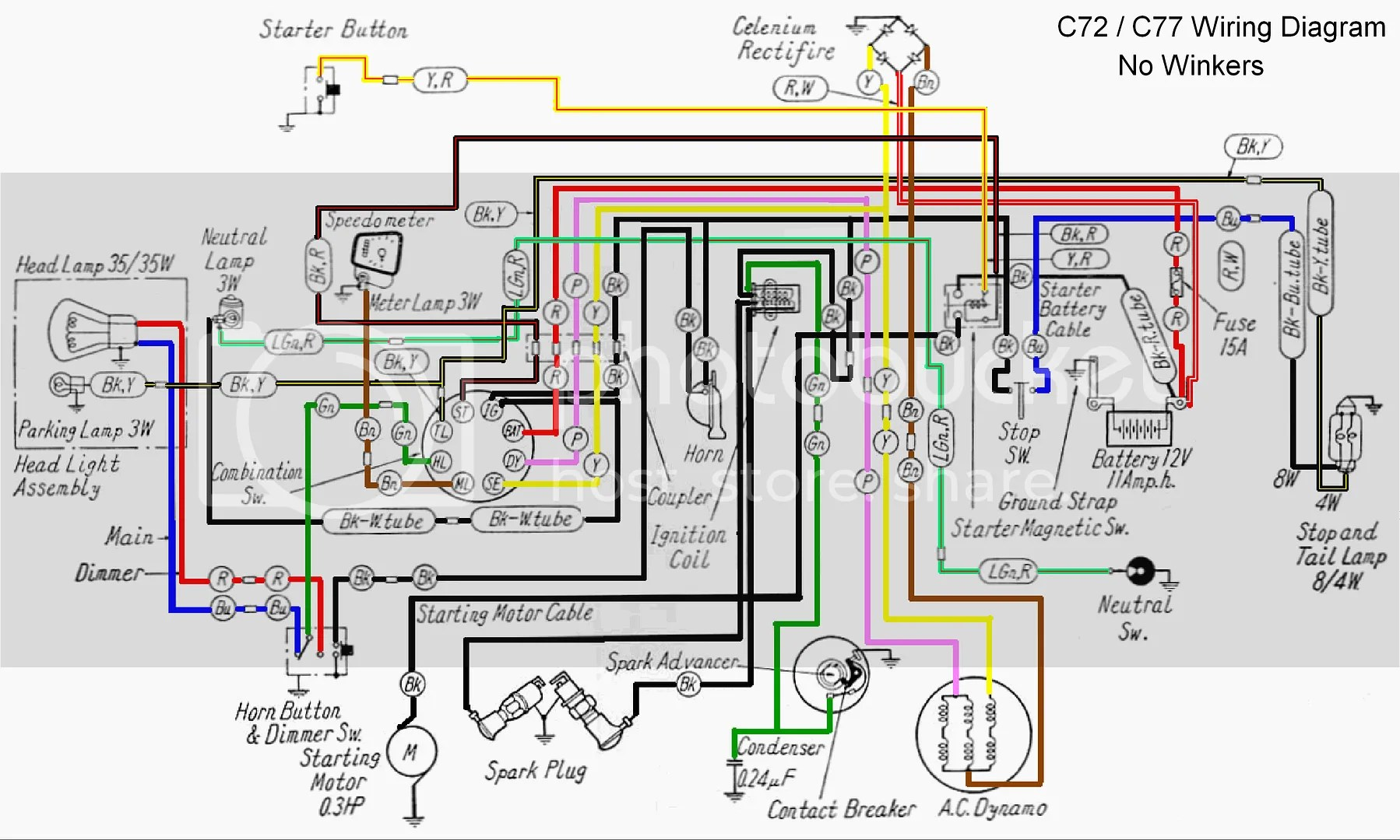 i was goofing off at work one day during my lunch hour and i took a ca77 wiring diagram and colorized it helps me see follow the wires much better than  [ 3297 x 1980 Pixel ]