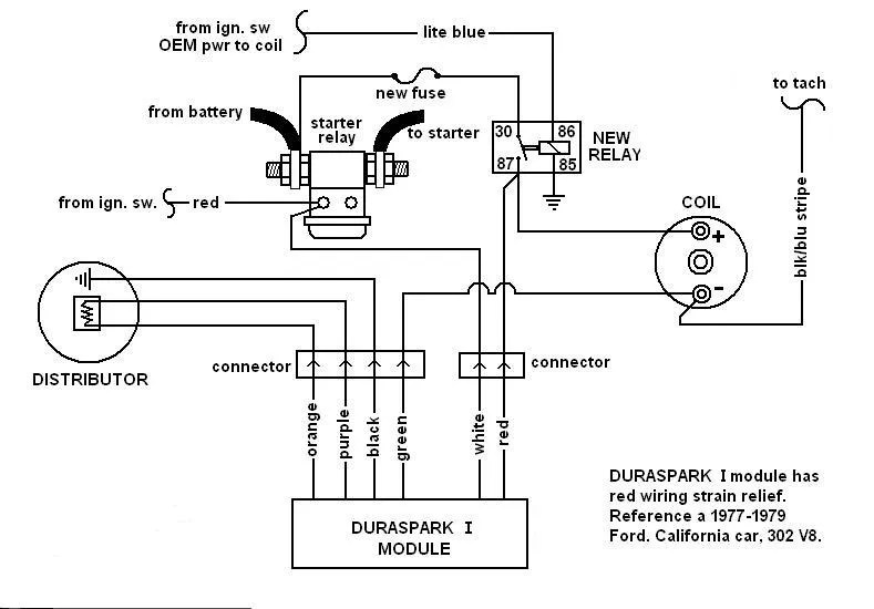 DurasparkIwiring?resized665%2C464 ford duraspark wiring diagram efcaviation com ford 302 distributor wiring diagram at honlapkeszites.co