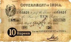 Tenner by the Government of India