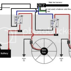 Fan Switch Wiring Diagram Nissan 350z 2005 Audio Ac Dual Electric Fans Data With