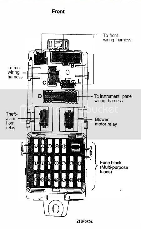 3000gt fuse box diagram