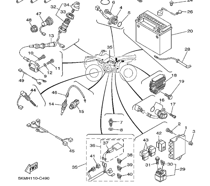 [DIAGRAM] 2000 Big Bear Headlight Wiring Diagram FULL