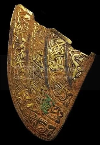 An Anglo-Saxon helmet cheek piece Photo: Birmingham Museum and Art Gallery
