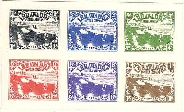 Gerald King - Alternative Burma - 1898 Irrawaddy Flotilla Company - Signed Proof Sheet 1