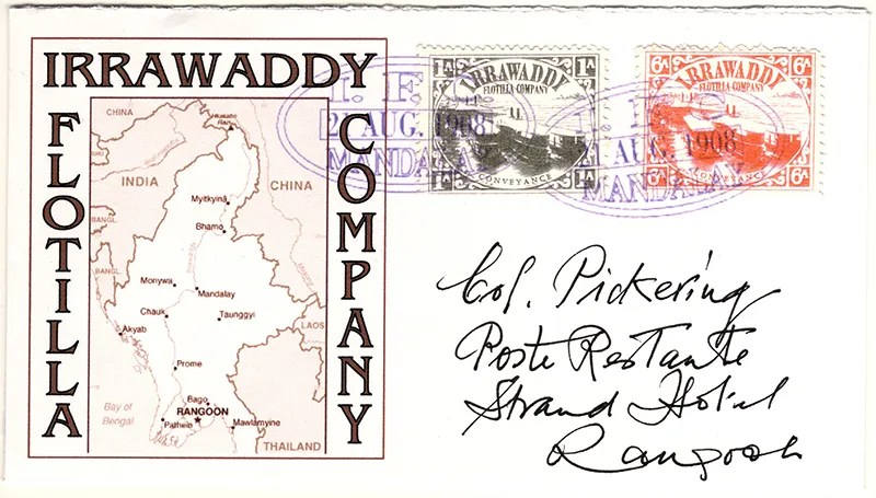 Gerald King - Alternative Burma - 1898. Cover 3 - Colonel Pickering (Irrawaddy) (Front)
