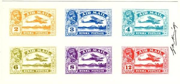 Gerald King - Alternative Burma - 1927 King George V Airmail (Proof)