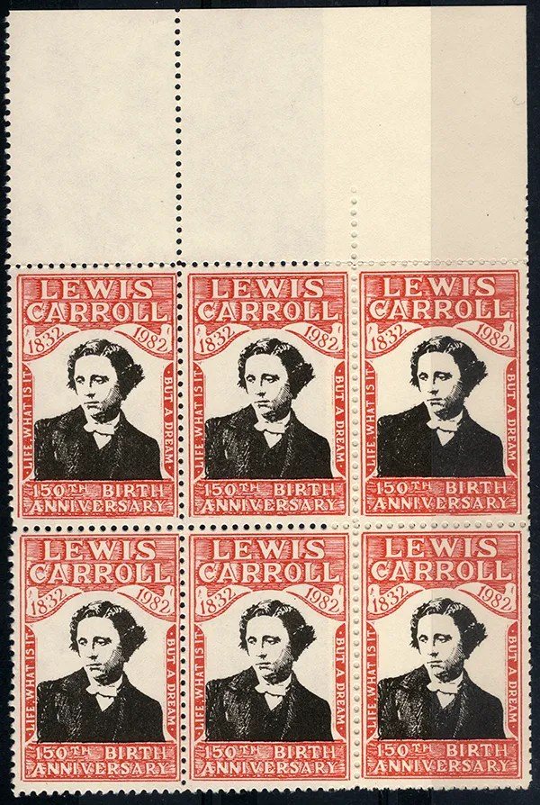 Gerald King - Lewis Carroll 150th Birth Anniversary - Block of 6 stamps
