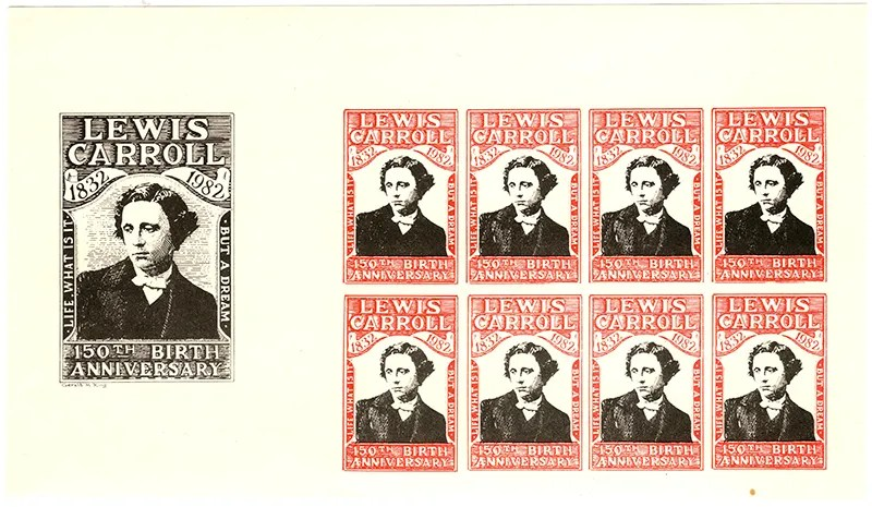 Gerald King - Lewis Carroll 150th Birth Anniversary - Sheetlet (Imperforated)