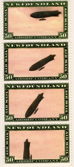 Gerald King - Newfoundland Airship Company - Unadopted stamps. Only 2 sets have been produced. Gerald made them in the late 90´s for fun.
