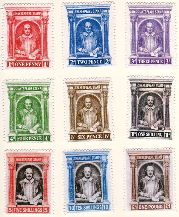 Gerald King - Shakespeare stamps - 2015 issue