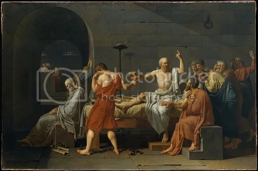 Death of Socrates by Jacques-Louis David (1748–1825)