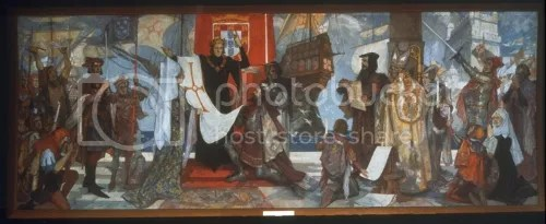 """Vasco da Gama Leaving Portugal,"" by John Henry Amshewitz (via Wikipedia)"