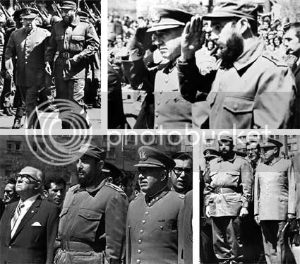 Augusto Pinochet y Fidel Castro (1971)
