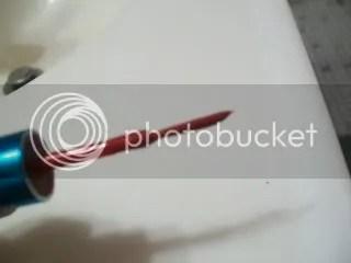 Red Glitter brush is kinda clumpy
