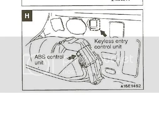 Keyless Entry Module, location???? Not where it was