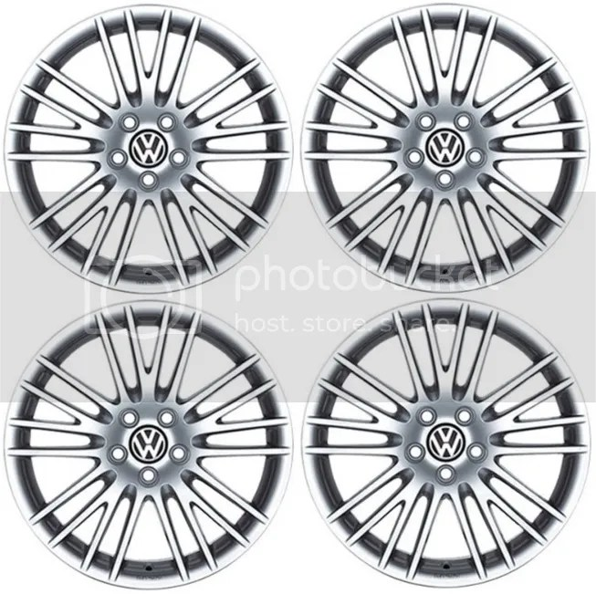 SET OF 4 GENUINE VW 18