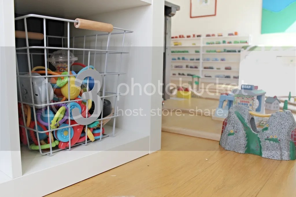 Storage in playroom.