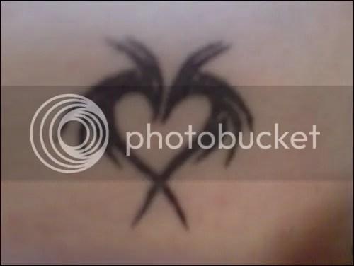 Dragon heart (left front hip) Click here to enlarge. Dragon (left shoulder)