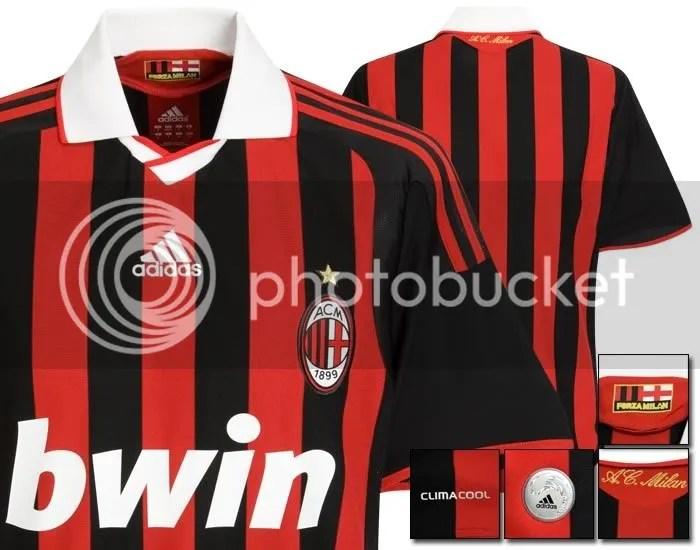 AC Milan 2009/10 Adidas Home Kit
