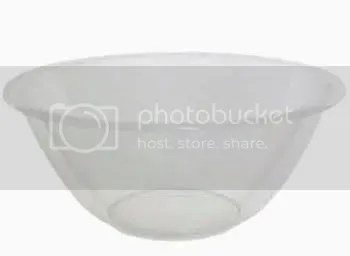 Clear Plastic Mixing Bowl. 23cm Diameter x 10cm Height