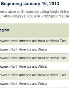 As is common for alaska airlines awards on partners they do not publish award charts travel between every region of the world also adds emirates redemptions to its chart view rh viewfromthewingardingarea