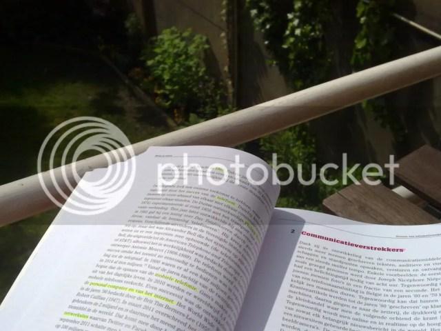 Vorige week - binnen & buiten studeren
