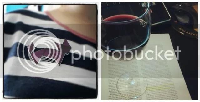 Vorige Week: Trots de nieuwe broche dragen - Wijn & papers lezen