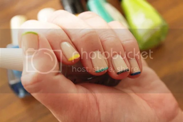 Link Love - Rainbow tipped french manicure