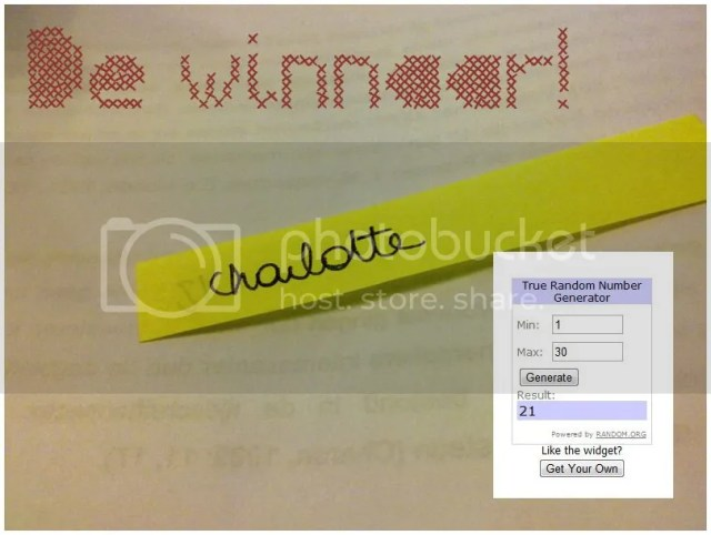 Giveaway winner!