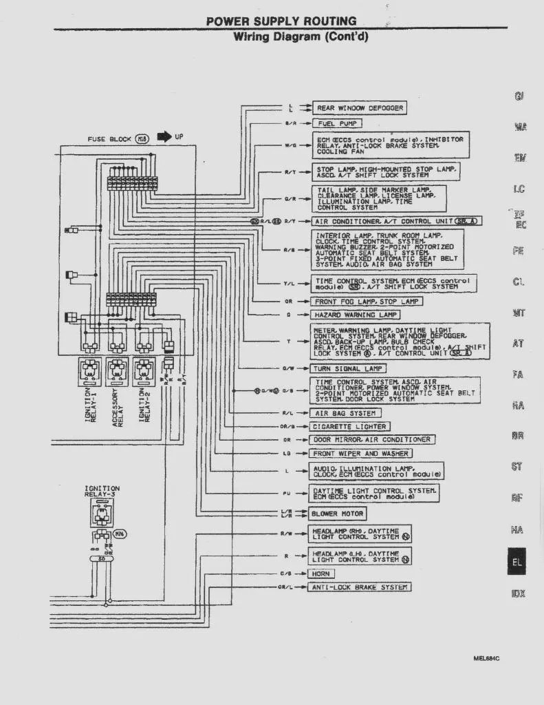medium resolution of 1994 nissan sentra radio wiring diagram also 2005 nissan sentra94 sentra fuse diagram 7 18 sg